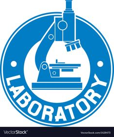 Laboratory label vector image on VectorStock Medical Wallpaper, Lab Logo, Lab Tech, Medical Logo, Medical Laboratory, Health Logo, Medical Technology, Social Media Design, Badge Holders