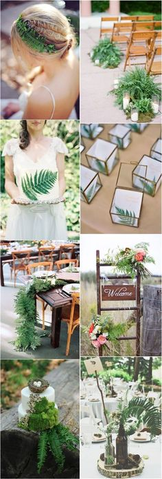 Eco Green Fern Wedding Ideas / http://www.deerpearlflowers.com/greenery-fern-wedding-ideas/