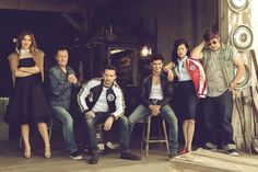 The cast of CBS' Scorpion.  THEY ARE TOO BEAUTIFUL FOR WORDS.  Garage Band | Television Academy Scorpion Tv Series, Best Tv Shows, Favorite Tv Shows, Ncis, Netflix, Katharine Mcphee, Series Movies, It Cast, Movie Tv