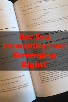 Learn how to format a screenplay the right way with this FREE download on the do's and don'ts of proper script formatting! #screenwriting #writingtips #screenplays