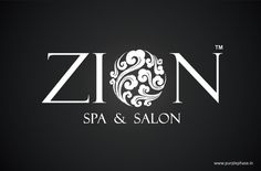 Zion means 'heavenly feeling or a God like feeling. We created a logo for city's one of the most premium spa & salon on the same imagery. Design by Purple Phase Communications. www.purplephase.in
