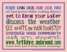 More than just a shop local campaign!  ...see what's on your doorstep