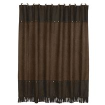 Faux Tooled Leather Shower Curtain