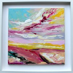 'Summertime'An ... White Box Frame, Irish Art, Connemara, Box Frames, Acrylic Art, Painting Frames, Watercolor Art, Framed Art, Summertime
