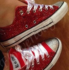 crystal rhinestone bling on high/low top sneaker converse shoes accept custom other color its true size if you are not sure your children size please measure the feet then tell me choose size for you. made to order
