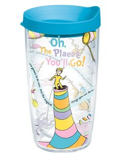 Seuss Oh The Places You'll Go Wrap Tumbler by Tervis. Seuss Oh The Places You'll Go Wrap Tumbler by Tervis & haushalt Tervis Tumbler, Tumbler Cups, Work Gifts, Reusable Cup, Cute Cups, Tumblers With Lids, Fun Drinks, Beverages, Cold Drinks