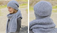 This beautiful Serene Skies knitted scarf and and matching hat will be a great…