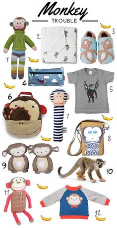 KidStyleFile Roundup : Cheeky Monkey Finds For Kids