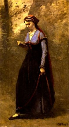Reading and Art: Jean Baptiste Camille Corot