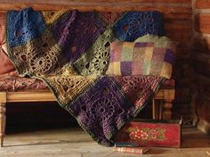 Ravelry: Crochet Squares Throw pattern by Marie Wallin