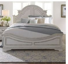 Farmhouse Bedroom Furniture, Bed Furniture, Bedroom Decor, Furniture Ideas, Bedroom Ideas, Liberty Furniture, California King Bedding, Beds Online, Panel Bed