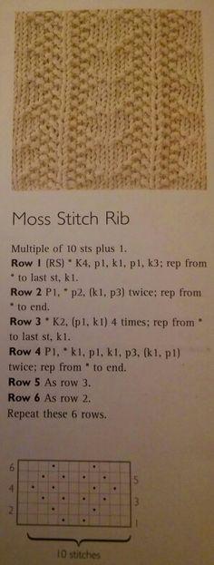 Moss Stitch Rib
