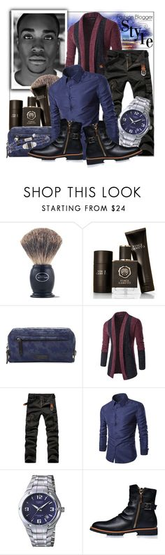 """Fashion Spokesman"" by prettyinjewels ❤ liked on Polyvore featuring The Art of Shaving, Vince Camuto, Uri Minkoff, Casio, Steve Madden, men's fashion, menswear, MensFashion and StreetChic"