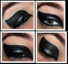 Catwoman eye make up Diy Catwoman Costume, Catwoman Makeup, Catwoman Cosplay, Diy Halloween Costumes, Halloween Make Up, Costume Ideas, Cosplay Ideas, Halloween Ideas, Halloween College