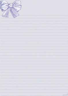 Purple lined stationery with bow