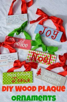 DIY Wood Plaque Ornaments