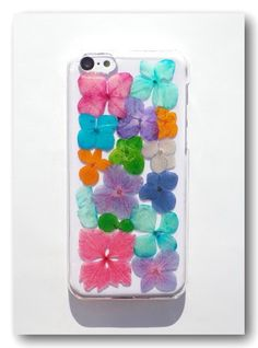 Handmade iPhone 5C case, Resin with Real Flower, Pressed flower (27)
