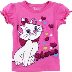 Aristocats Girls Pink T-Shirt Toddler Girl Outfits, Baby Girl Dresses, Kids Outfits, Baby Girl Fashion, Kids Fashion, Cute Toddlers, Girls Tees, Kids Pajamas, Kids Wear