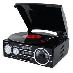 Jensen 3-Speed Stereo Turntable with AM/FM Stereo Radio #JTA-300