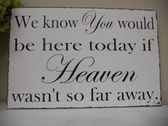 write on chalkboard & place pictures of those we want to Remember on table