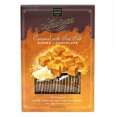 My mouth is watering.....Chocolate Dipped Caramel with Sea Salt Moravian Cookies Size8 oz Price $4.99/EACH
