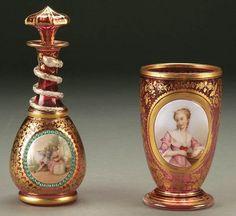 Cranberry Bohemian glass c. 1870.