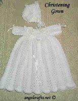 Free Crochet Baby Christening Gown Pattern by Crochet Baby Dress Pattern, Baby Dress Patterns, Gown Pattern, Baby Girl Crochet, Crochet Baby Clothes, Crochet For Kids, Knit Crochet, Crochet Patterns, Crochet Dresses
