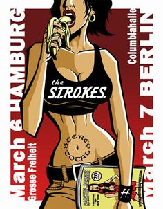 The Strokes   Stereo Total     Columbia Hall   3/6/2003   Artist: Justin Hampton