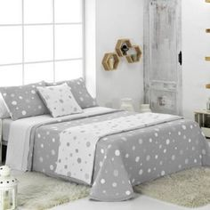 Colchas Juveniles en Donurmy Mole, Comforters, Room Decor, Blanket, Bed, Furniture, Verde Jade, Couture, Products