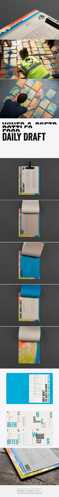 Menu Design for Brewdog by O Street — BP&O - created via https://pinthemall.net