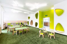 Kindergarden in Chroscice / PORT - Kindergarten Kindergarten Interior, Kindergarten Design, Kindergarten Classroom, Kids Cafe, Bureau Design, Classroom Design, Daycare Design, Learning Spaces, Education English