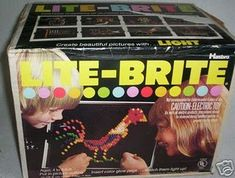 Lite-Brite, Lite-Brite, turn on the magic of colored light!  Who's singing in their head? You're an 80's child if so. ;)
