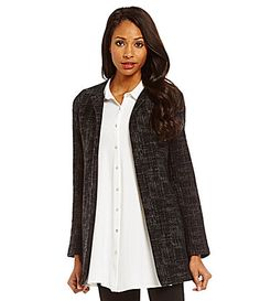 Eileen Fisher Petite Crosshatch Tencel Jacket #Dillards