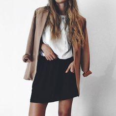 fashionsensexoxo:   Coat - HERE  Top - HERE  Skirt - HERE