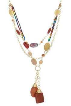 Fun with stones and different colored chains.