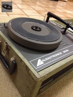 An old classroom style record player