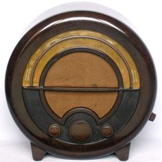 Art Deco Bakelite Ekco Valve Wireless 1930s Vintage Round Radio AC76 from 1935