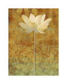 Abstract Lotus I Art Print