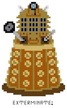 Looking for your next project? You're going to love Dalek Exterminate! PDF Download by designer HappyCupcake.