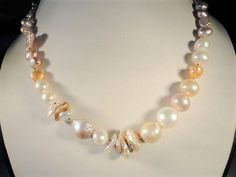 pearls statement necklace gold filled necklace gold pearl