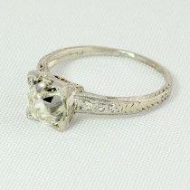 1.42 Carat Art Deco Vintage Diamond Ring