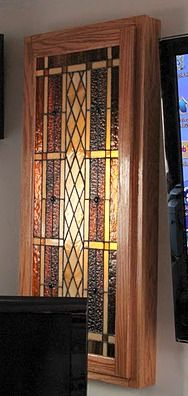 Stained Glass Cabinet Christmas Present