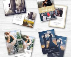 Beautifully Designed Wedding Thank You Card Templates Thank You Card Template, Wedding Card Templates, Wedding Announcements, Wedding Thank You Cards, Psd Templates, Special Occasion, Etsy Seller, Photoshop, Invitations