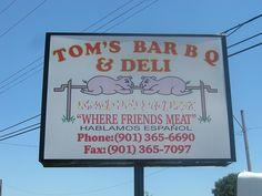 Tom's Bar-B-Q Memphis, TN saw this one triple d...rib tips look great!