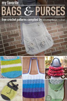 Roundup: My Favorite Free #Crochet Purse Patterns   Little Monkeys Crochet
