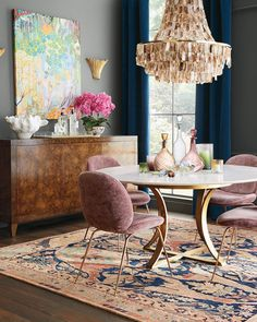 Shop Madigan Rug from Exquisite Rugs at Horchow, where you'll find new lower shipping on hundreds of home furnishings and gifts. Decor, Dining Room Design, Furniture Decor, Dining Room Inspiration, Dining Room Decor, Interior Design, Home Decor, House Interior, Modern Dining Room