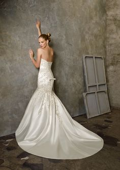 BRIDAL GOWNS FROM MORI LEE BY MADELINE GARDNER 2512 Duchess Satin with Embroidery