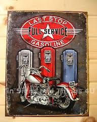 Love this tin as part of a motorcycle themed game room or car themed.