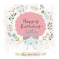 """Birthday card for my agent @lillarogers - a hopping, skipping cupcake!  #illustration #birthday #cupcake #cake #drawing #art #design #happybirthday"" Photo taken by @florawaycott on Instagram, pinned via the InstaPin iOS App! http://www.instapinapp.com (01/06/2015)"