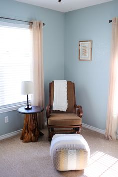 Gabe's nursery was inspired by a classical and peaceful woodland nursery theme.